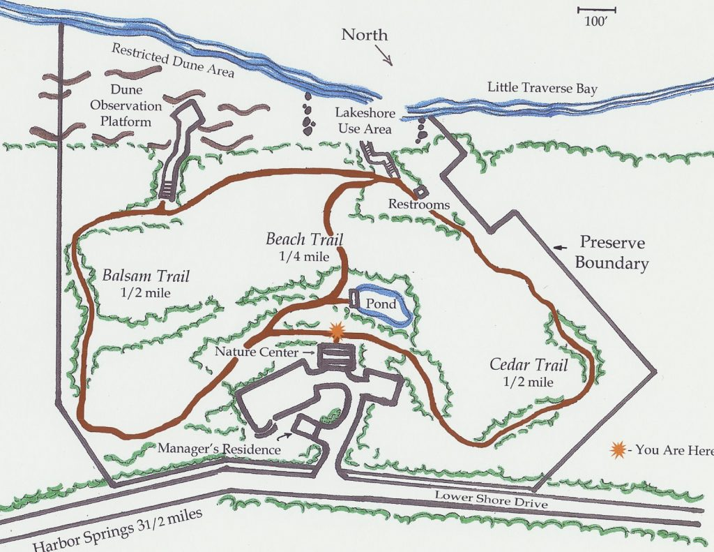 thorne swift nature preserve map